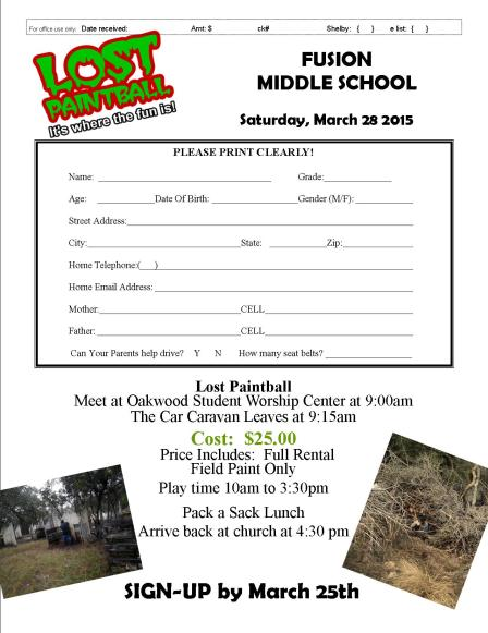 LostPaintball  Registration 3.15