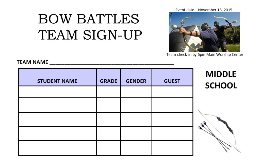Bow Battles Signup Sheet MS